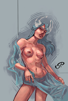 Horned Veiled Lady Colours by pauscorpi