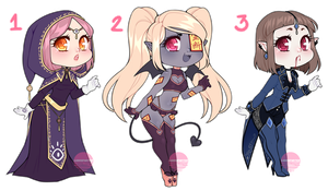 Halloween Adopt Set #1 (CLOSED) by LunaOfWater