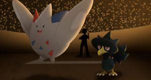 Commission: Togekiss and  Murkrow by All0412