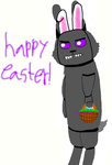Here comes the deranged easter bunny by fnafgarbage