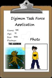 dtf app NIK AND The Agumon by nirpoke1