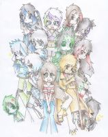 Amelia's Gang (and some intruders XD) by AnaNini