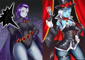 Raven to Ravebo (before-after) by HaryuDanto