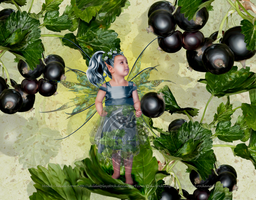 Black Current Berry Fairy by SpiritOnParole