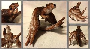 Saen - Winged Otter Sculpture by LuxDani