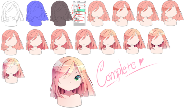 [Tutorial] Hair Coloring by Miruukii-hime