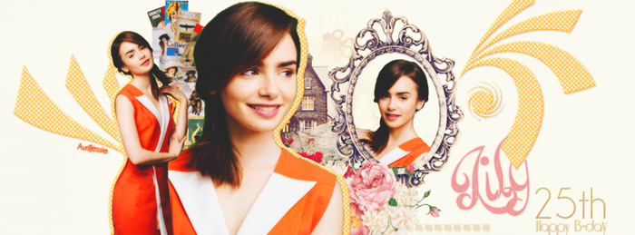 Happy B-day Lily Collins by AvrilJessie