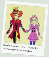 Melian And Hatter Polaroid by Magictron3000