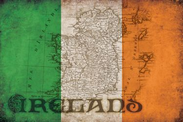 Ireland Grunge Flag by faust3000