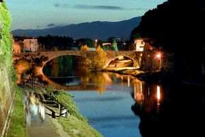 Prato, the riverside by night by rotellaro