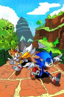 Adamis Sonic Boom Comic (Colored) page 1 by miitoons