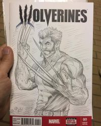 Another Wolverine Sketch Cover by ChrisMcJunkin
