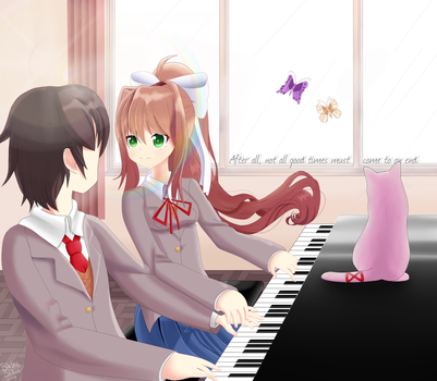 Monika ~ A Tune For Two ~ (Doki 4/4) by blainesilver