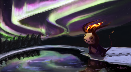 northern lights by oxoxoxo