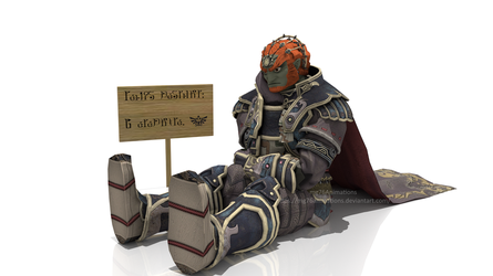 Ganondorf in his seal by mg76Animations