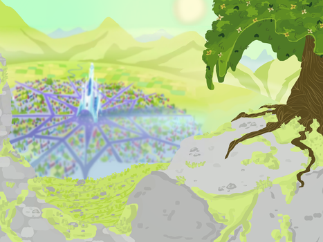Mlp .:Crystal empire:. background by DashkaTortik12222222