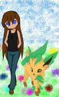 Chenana and Leafeon by VeronicaPrower
