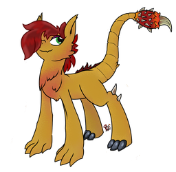 Beast Pony OC by DraconianQueen