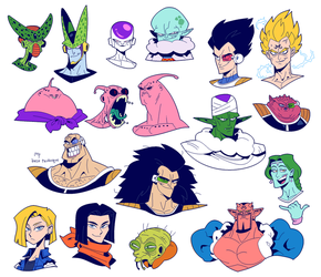 CARTOON DRAGON BALL Z by Cubesona