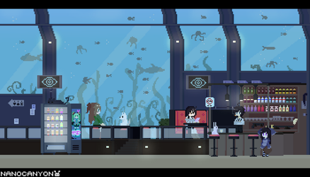 Pixel BG - Underwater Bar by NANOCANYON