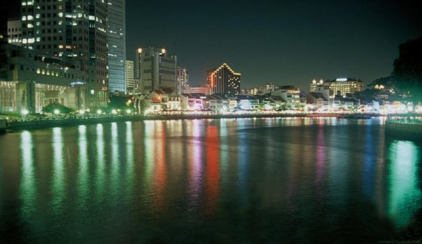 river in the night by eskie