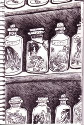 Bottled death by psychedelicpixie