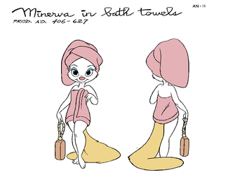Minerva in Bath Towels by cheril59