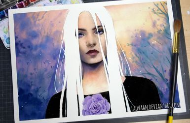 Watercolor Potrait - White Night (Video) by Laovaan