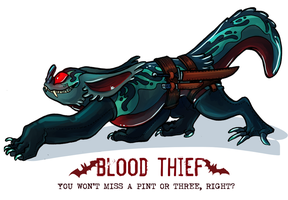 CDC day 24 - Blood Thief by flatw00ds