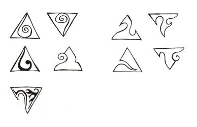 Triangle Tattoo - Sketch 01 by MaryQueenWolf