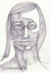 self portrait drawing 2 by hinstarsion
