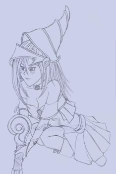 Dark Magician Girl Drawing by Chys