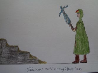 Jalerom's mortal enemy: dusty stairs by woodywoodwood
