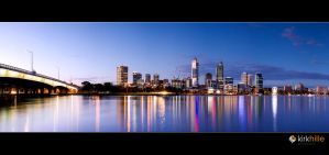 Perth Skyline Night by Furiousxr