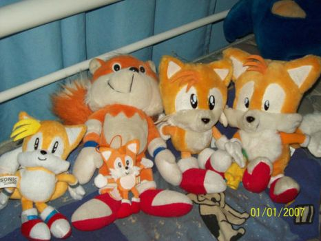 Tails plush collection by Firestar-the-Werecat