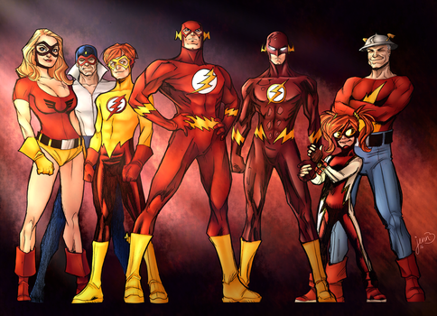 The Flash Family by Sorathepanda
