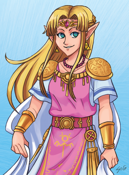 SSBU Zelda by s-iRON