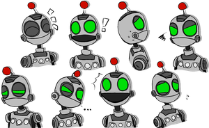 Many Faces of Clank by SleepySundae