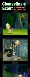Changeling Scout And The Book Of Daring Do 10 by vavacung