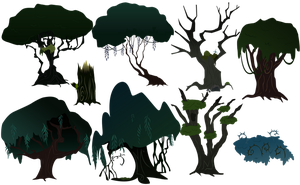 Everfree Forest Trees by BonesWolbach
