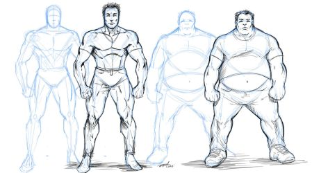 How to Draw Overweight Characters by robertmarzullo