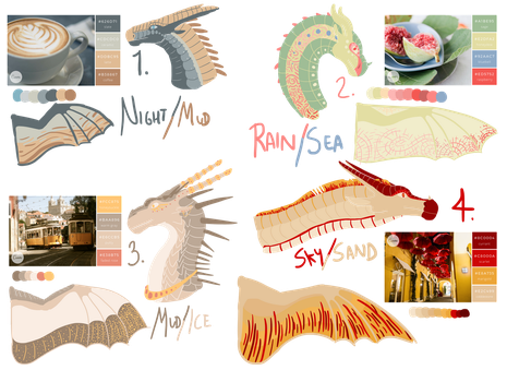 ((CLOSED)) SEMI-LINELESS AESTHETIC ADOPTS by talons-and-tails