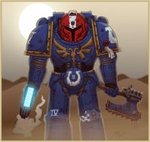 40k: Ultramarine by wibblethefish