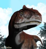 Allosaurus busto by arc-one