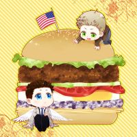 SPN-hamburger by siruphial