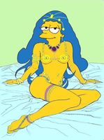 Marge Simpson as Dejah Thoris by paulibus2001