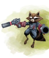 Rocket Raccoon by h4125