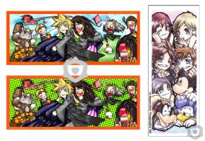 FF7 AC and KH Bookmarks by Thingamajica