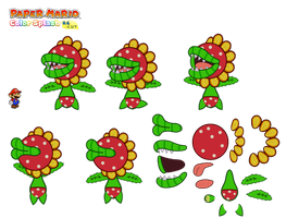 Petey Piranha (unused Paper Mario version) by DerekminyA