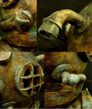 Diving helmet details by Ulltotten